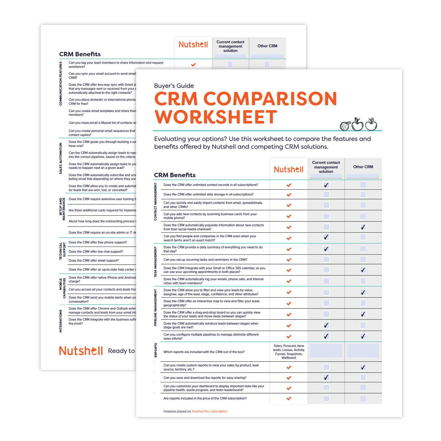 Crm Comparison Worksheet