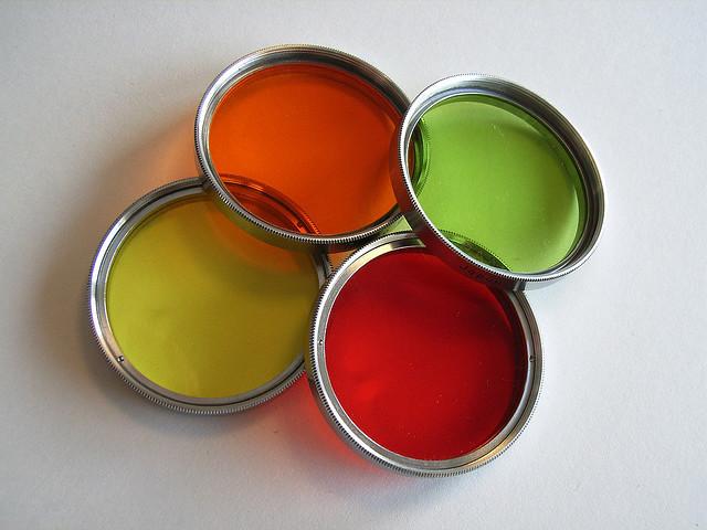 4 verschiedene Farbfilter