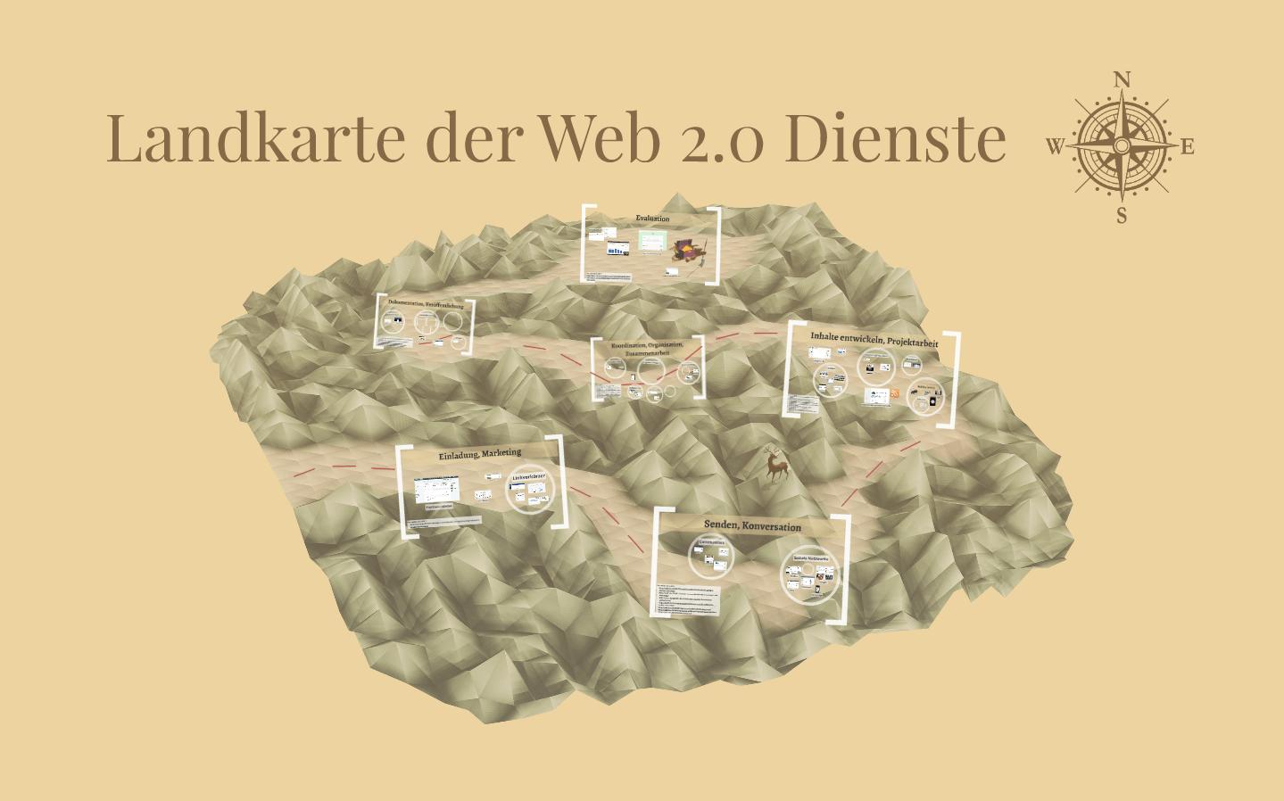 Screenshot der Prezi Landkarte der Web 2.0 Dienste (fällt nicht unter eine freie Lizenz)