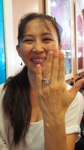 Yasko sporting the million dollar ring