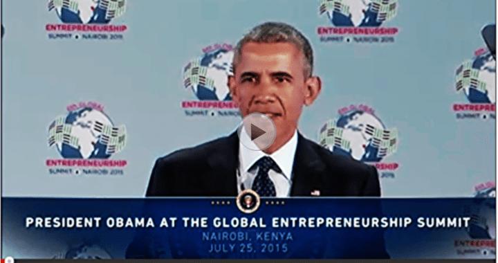 President Barack Obama delivers remarks at the Global Entrepreneurship Summit in Kenya GES2015