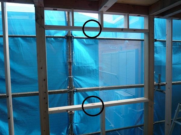 窓台とまぐさの取付