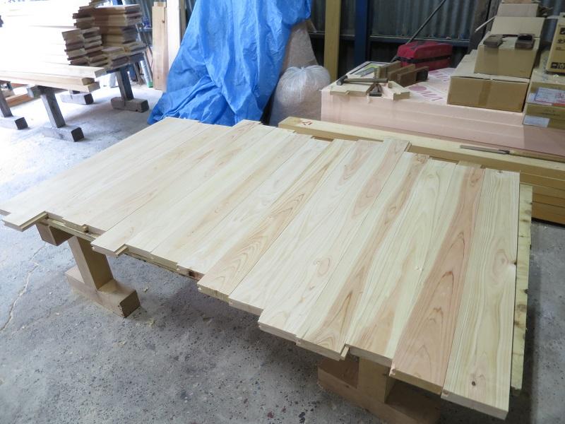 木の水槽の製作