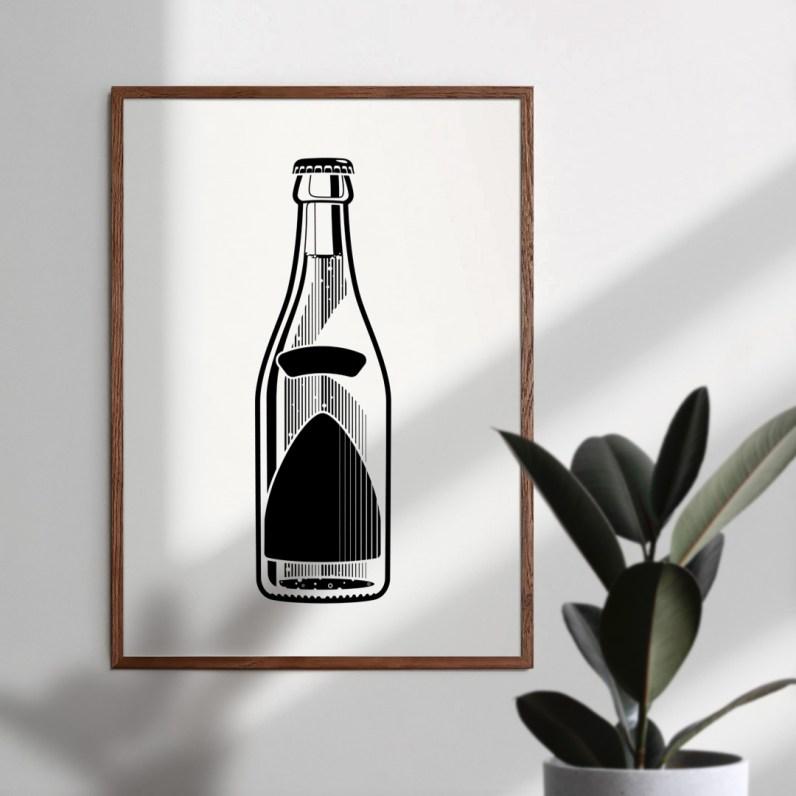 Dotlings Soda Framed