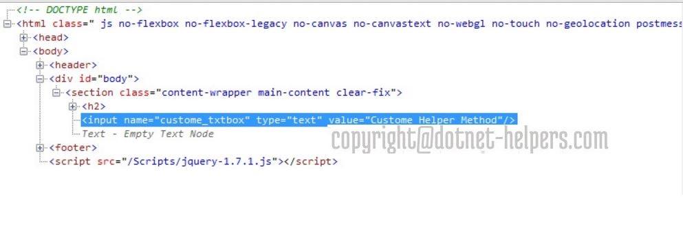 Creating Custom Html Helpers in mvc-dotnet-helpers