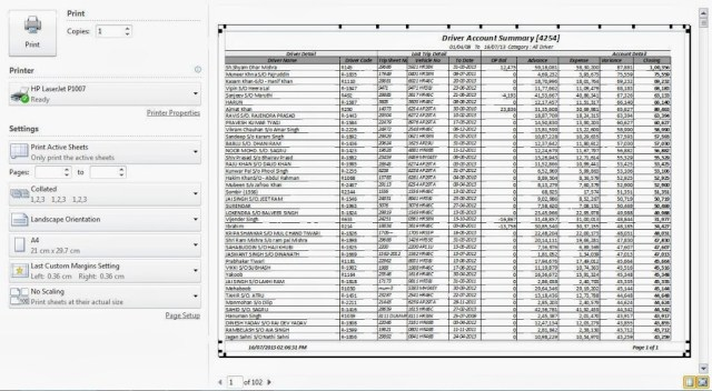 Printing Header Rows (titles) in all pages of Microsoft Excel 7
