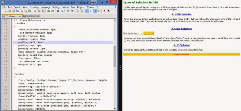 CSS - Cascaded Style Sheet : Part 2 (Selectors) 2