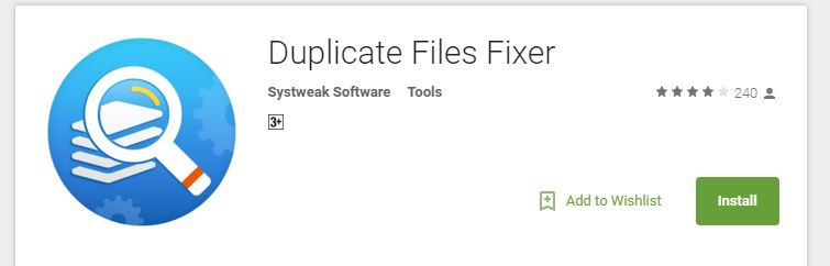 Duplicate File Fixer - Play Store