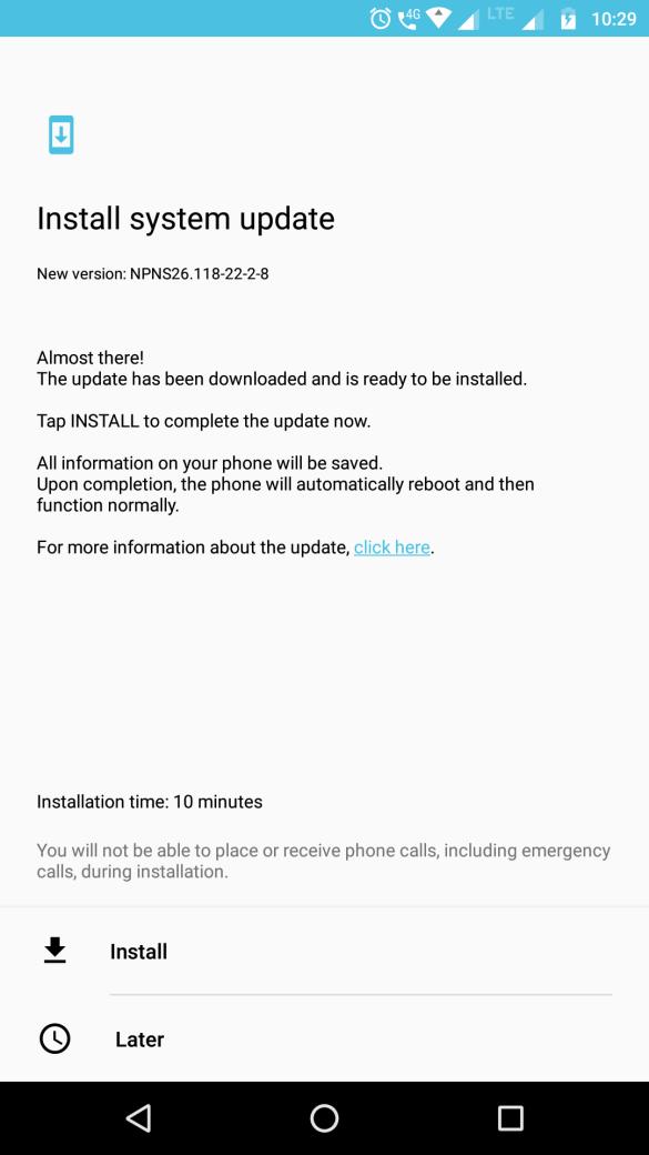 Software Update for Moto Z Play - NPNS26.118-22-2-8 4