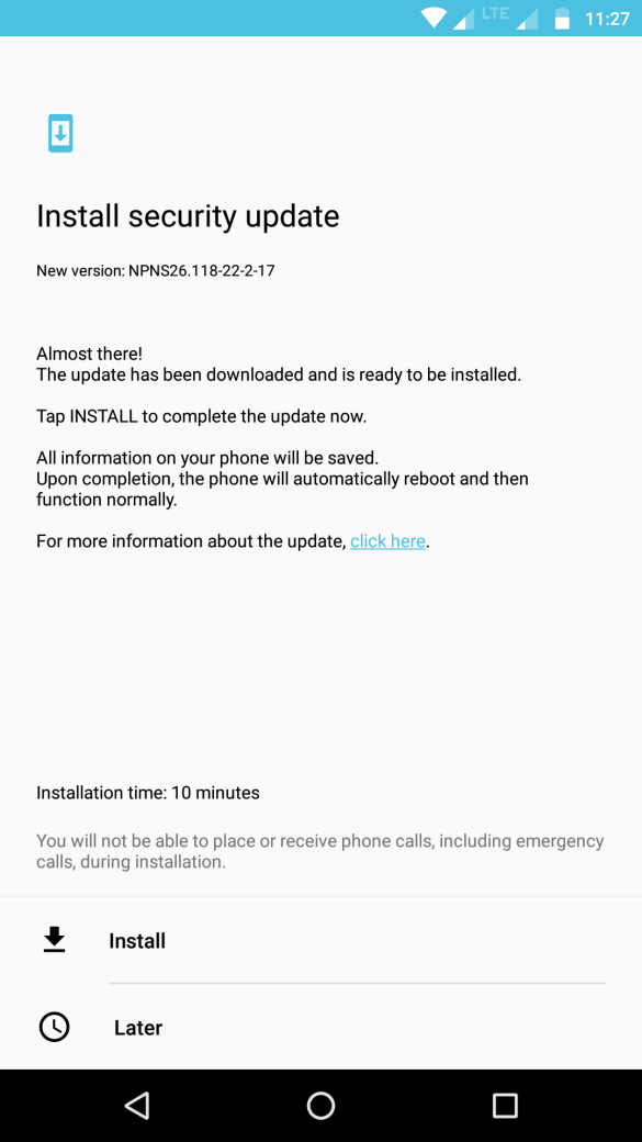 Android Update for Moto Z Play - NPNS26.118-22-2-17 5