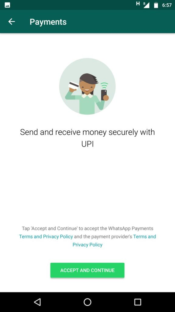 WhatsApp Payment Settings Page