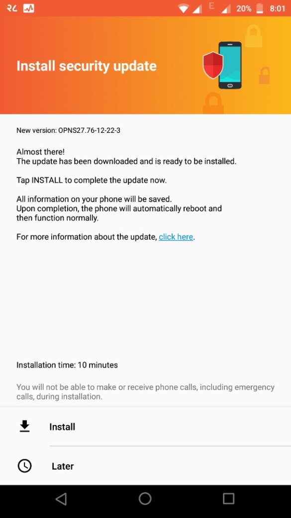 Software Update for Moto Z Play (OPNS27.76-12-22-3) Security Patch - 1st June Released in India 4
