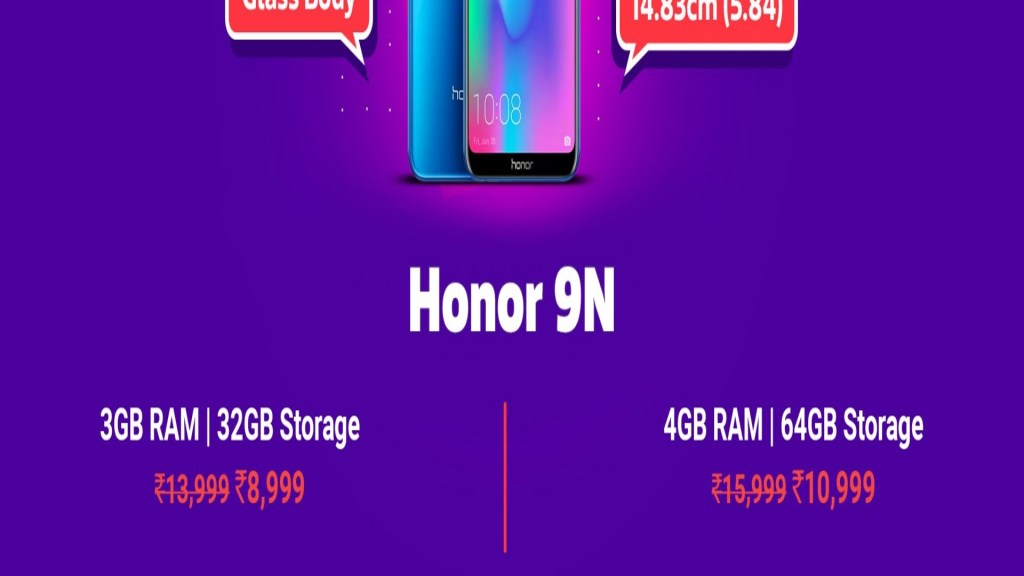 Honor 9N discounts on Flipkart Big Shopping Days