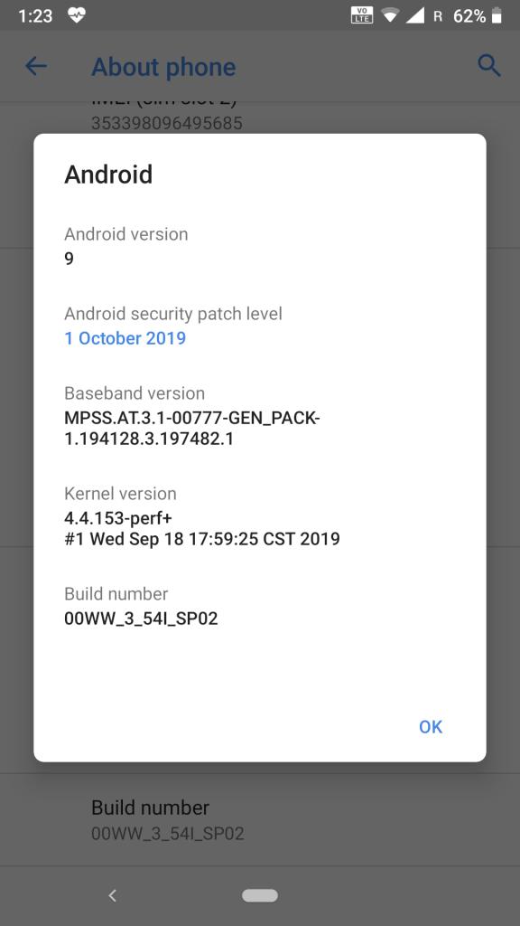 Nokia6.1 V3.54I_SP2 After Install