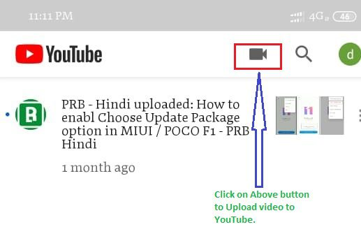 YouTube - Upload your first video Mobile App
