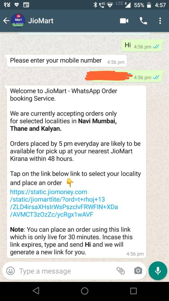 JioMart WhatsApp Order Booking launched, Complete Shopping Guide in 4 steps 1