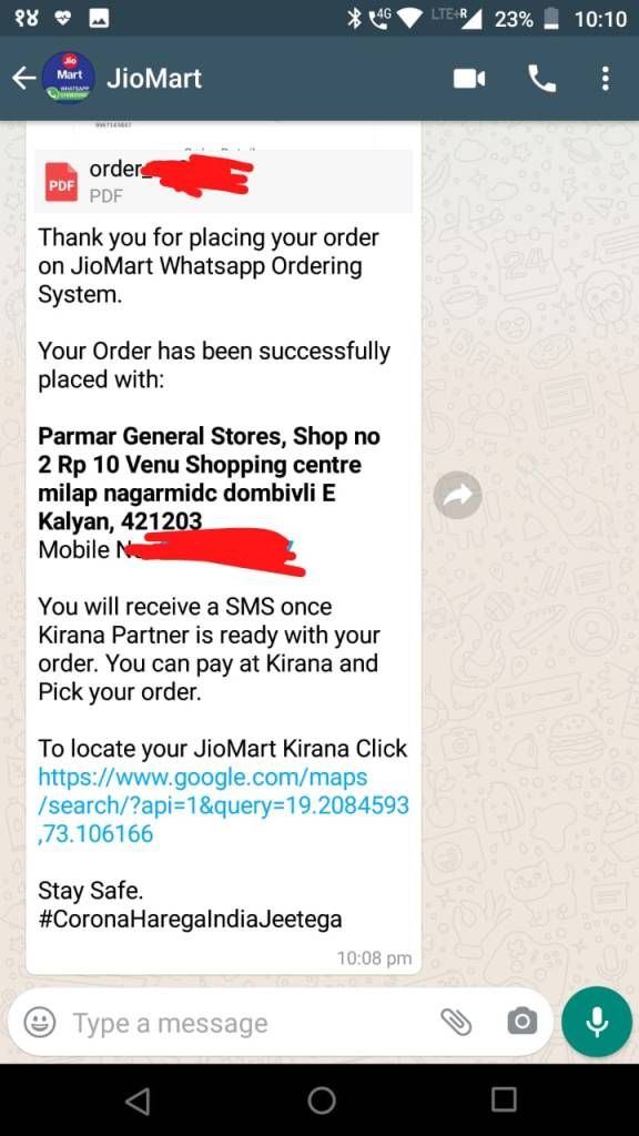 JioMart WhatsApp Order Booking launched, Complete Shopping Guide in 4 steps 4