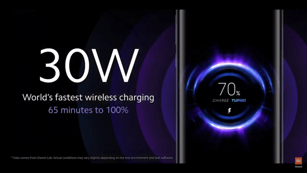 Mi 10 5G - 30W wireless Turbo Charge