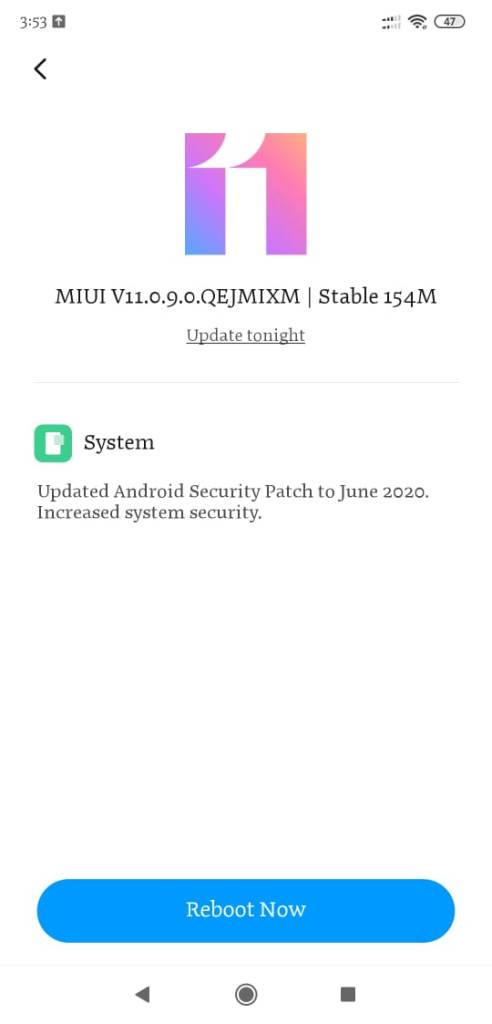 POCO F1 Android 10 update MIUI Build V11.0.9.0.QEJMIXM available 2