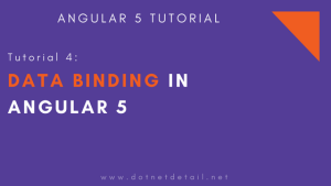 data binding in angular 5