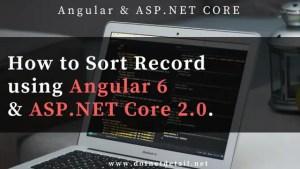 sorting record using angular and asp.net core