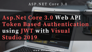 ASP.NET Core 3.0 web api token based authentication example Featured image
