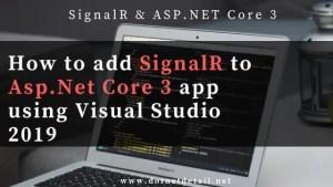 add signalr to asp.net core 3.0
