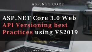 asp net core 3.0 web api versioning