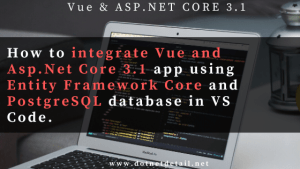 Integrate vue and asp.net core 3.1