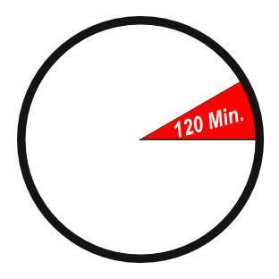 Uhr zurück drehen - stilisierte Uhr