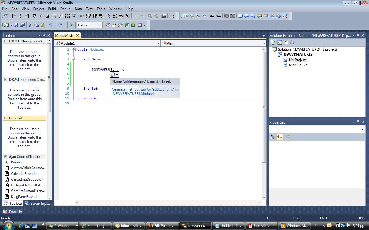Vb 10 0 New Features And Visual Studio Ide