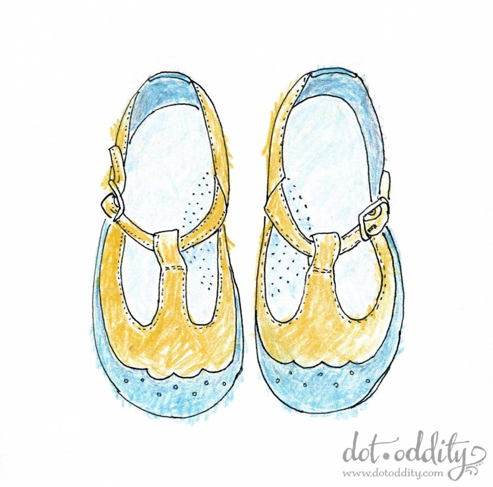 the little shoe project 2015 april by Maria Larsson