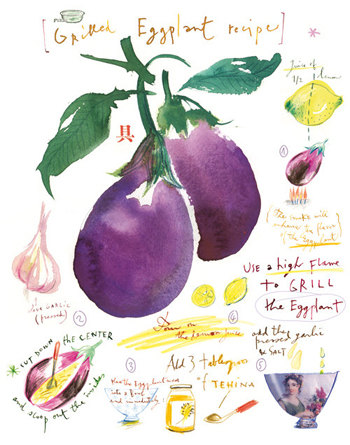 Grilled eggplant by Lucile Prache
