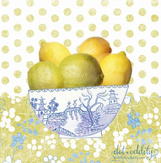 Lemons collage by Maria Larsson
