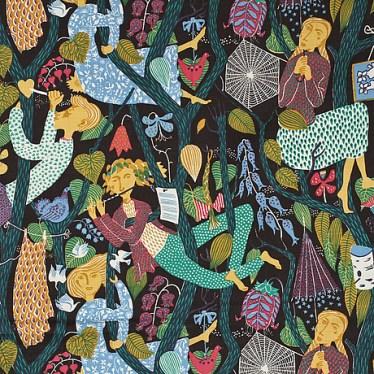 Melodi textile pattern Stig Lindberg