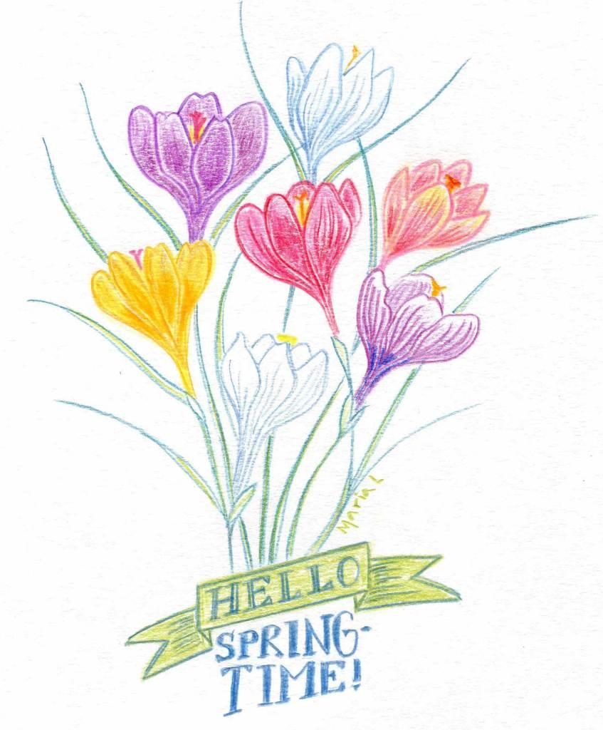 Hello Springtime by Maria Larsson