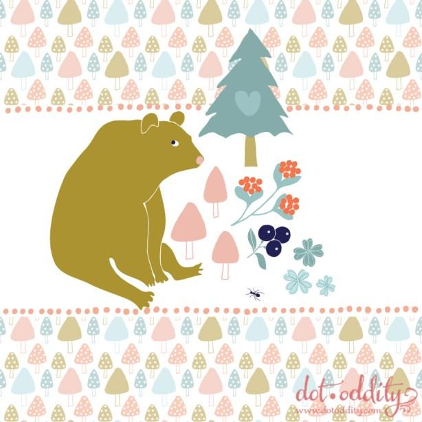 Grumpy Bear by Maria Larsson