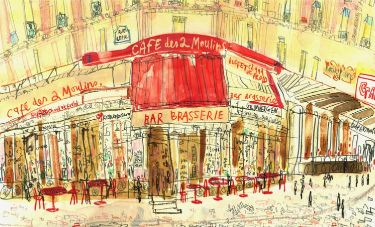 Café des Deux Moulins Paris by Clare CaulfieldCafe des Deux Moulins Paris by Clare Caulfield