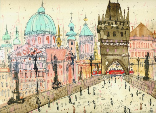 Charles Bridge Prague by Clare Caulfield
