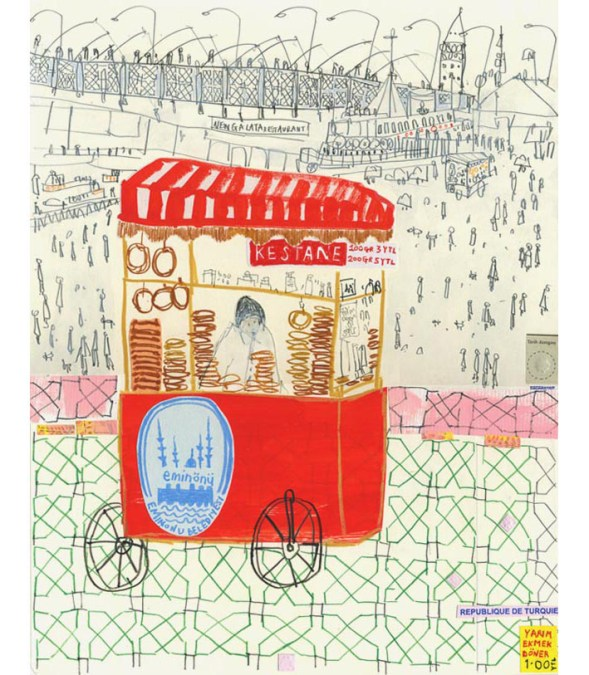 Istanbul Trolley by Clare Caulfield