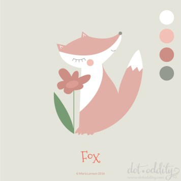 Fox by Maria Larsson