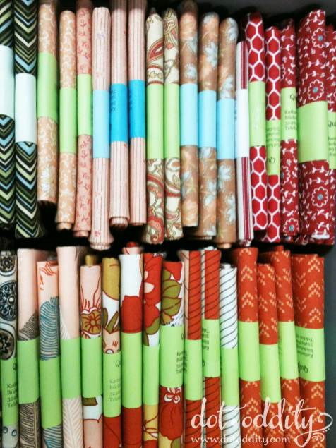 Fat quarters... photo by Maria Larsson