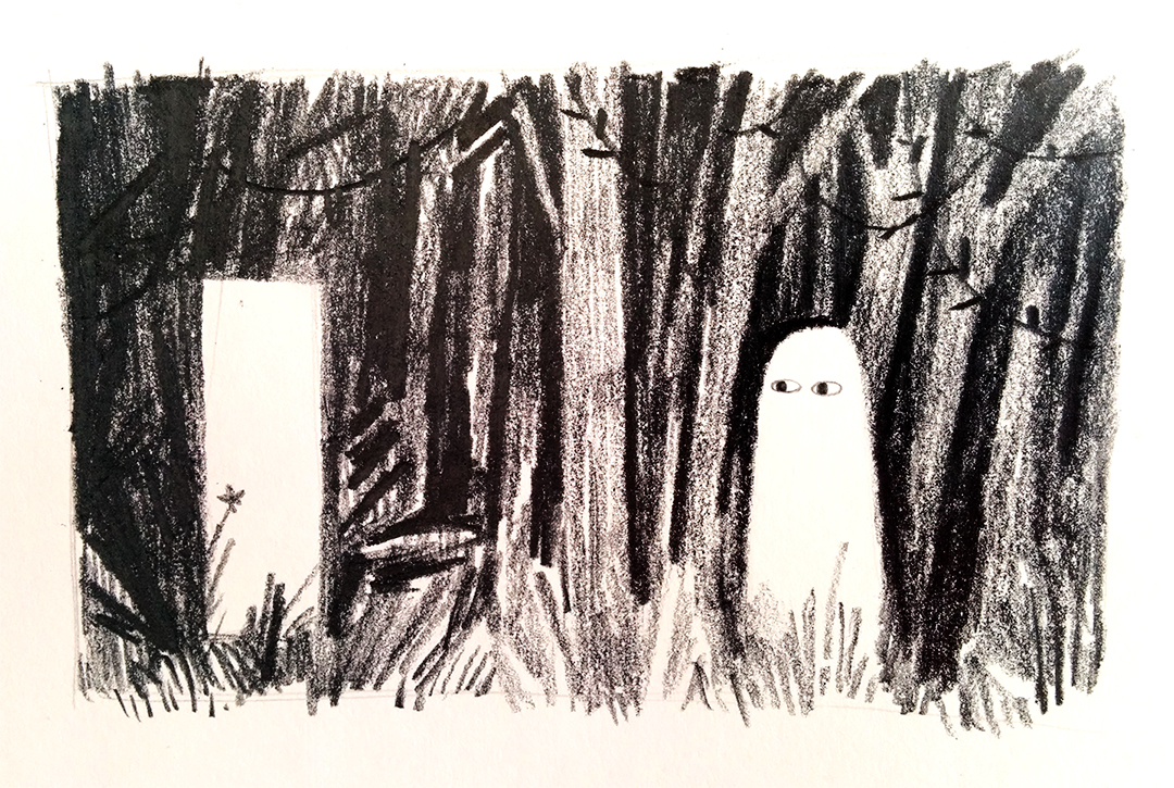 A cute ghost by Jon Klassen