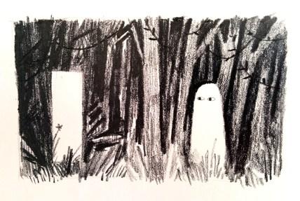 A cute ghost by Jon Klassen