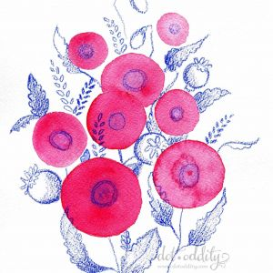 poppies by Maria Larsson