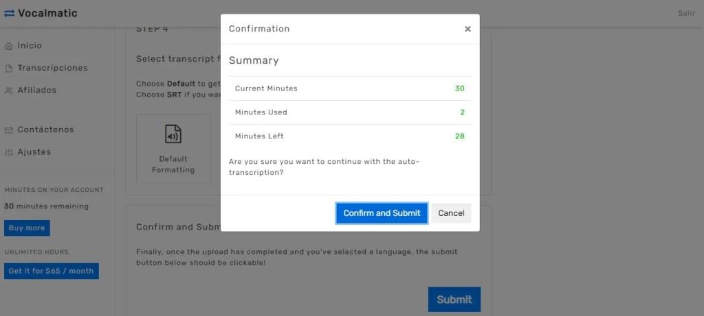 Cómo pasar un video de YouTube a texto con Vocalmatic.