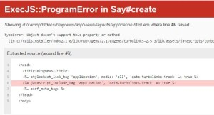 Rails ExecJS ProgramError in View