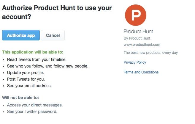 producthunt twitter