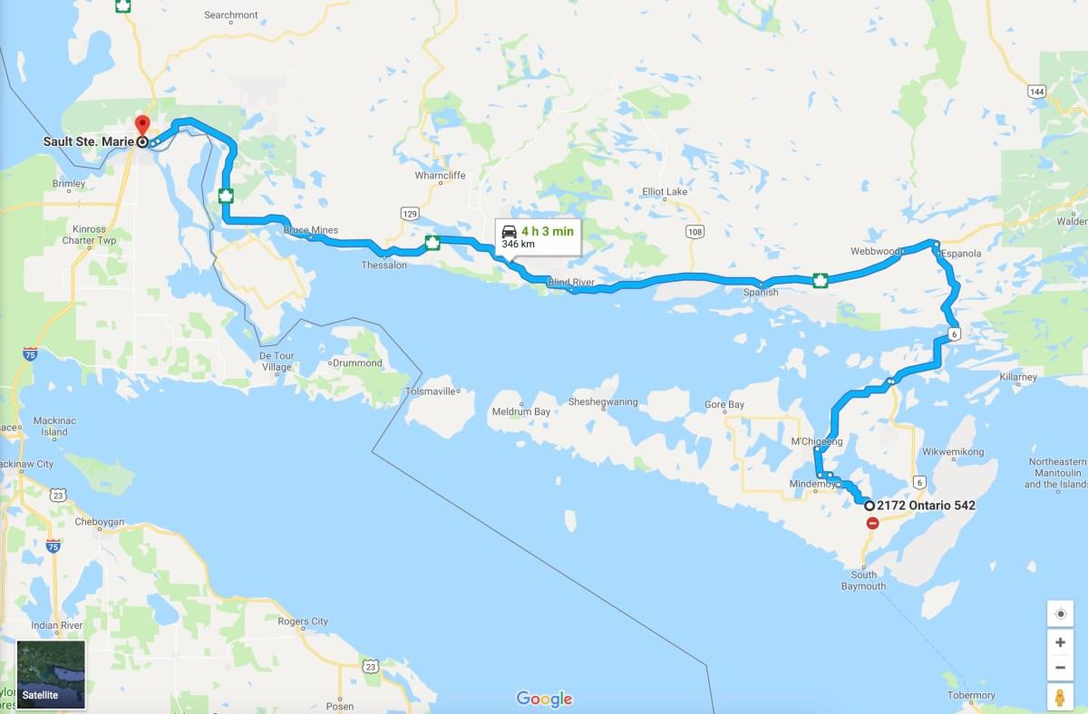 Карта хайвея