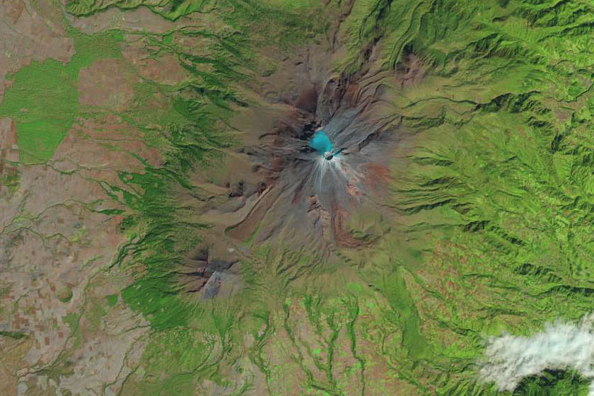 Landsat image of HAWC Observatory